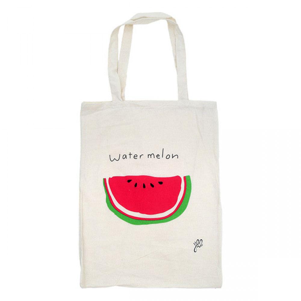 Stoffen Tas Beschilderen : Stoffen tas opdruk meloen hippetrends